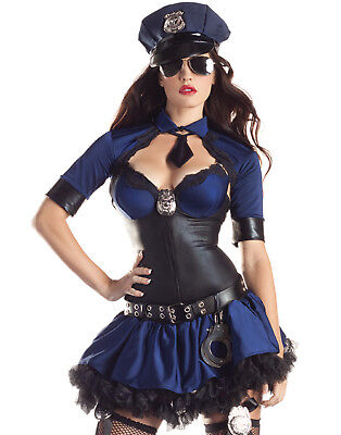 Halloween Costume Police Officer (Sultry Officer Body Shaper Sexy Cop Police Womens Hens Halloween)