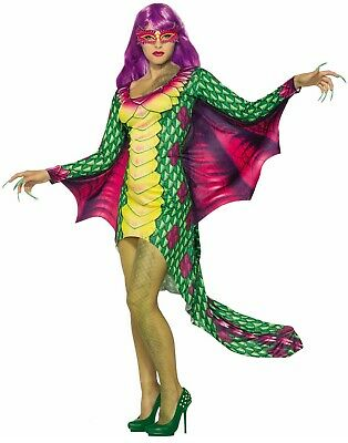 Adult Halloween Costume Women (Dazzling Dragon Womens Adult Mythical Creature Halloween)