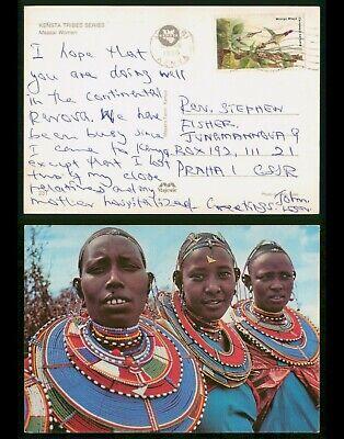 Mayfairstamps Kenya 1986 Kensta Tribe Costumes to Czechoslovakia Postcard wwp118