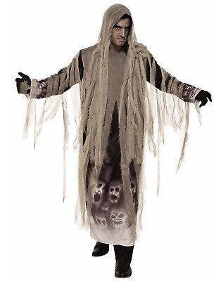 Tattered Ghoul Mens Adult Ghost Soul Keeper Reaper Halloween Costume-Std - Soul Reaper Halloween Costume