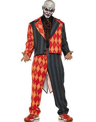 Thriller Mens Scary Orange Black Clown Jester Tuxedo Halloween Costume](Thriller Halloween Costumes)