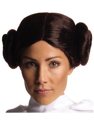 Star Wars Prinzessin Leia Braun Buns Erwachsene Damen Kostüm
