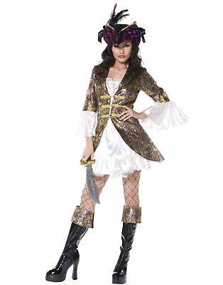 Captain Swashbuckler Sexy Pirate Wench Womens Victorian Halloween - Wench Womens Kostüm