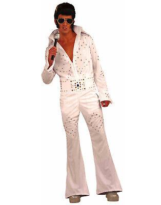 Superstar Halloween Costumes (Vegas Superstar Adult Elvis Rock Star Halloween)