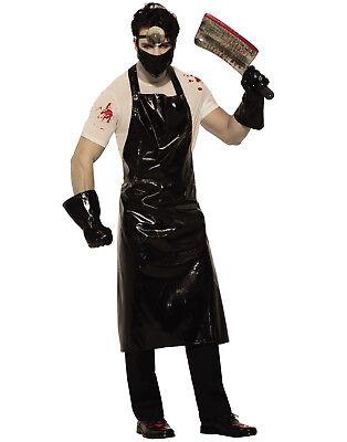 Psycho Surgeon Mens Adult Black Evil Doctor Halloween Costume-Std](Evil Doctor Halloween Costume)