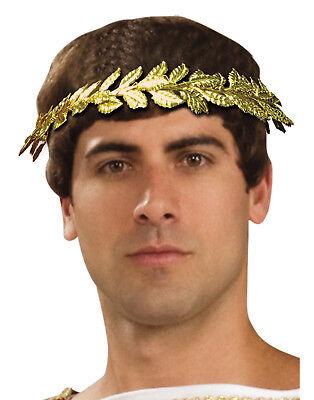 Gelbgolden Blatt Herren Erwachsene Griechisch Römisch Lineal Kostüm König Krone
