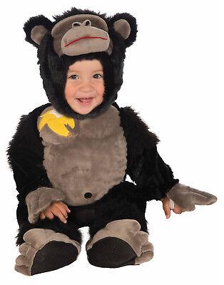 Gorilla Unisex Kleinkinder Affe Plüsch Halloween Schwarz Kostüm (Gorilla Kind Halloween Kostüm)