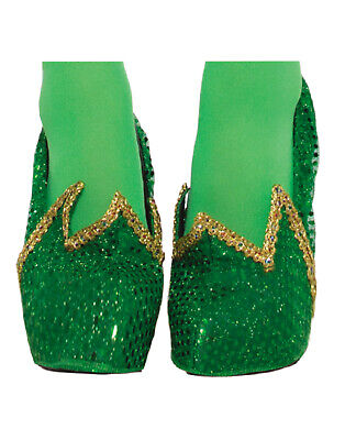 Tinker Bell Adult (Miss Pixie Womens Adult Tinker Bell Fairy Costume Green Shoe)