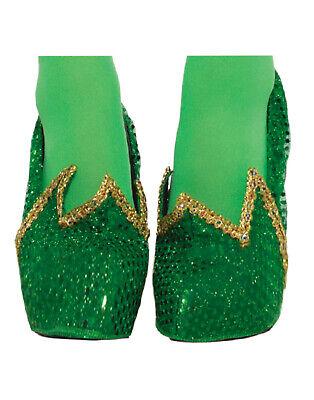 Miss Folletto Donna Adulto Trilly Campanellino Costume da Fata Verde Copriscarpe
