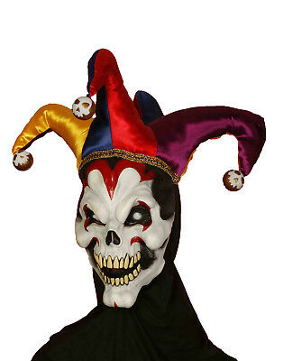 Wicked Jester Mens Adult Evil Clown Halloween Costume Mask](Mens Evil Clown Halloween Costumes)