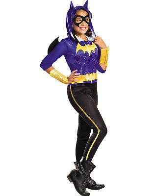 Dc Girls Batgirl Hooded Superhero Kids Jumpsuit Halloween Costume - Superhero Girl Costumes Halloween