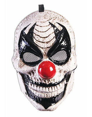 Moving Jaw Clown Mens Adult Scary Evil Halloween Jester Mask - Jester Mask