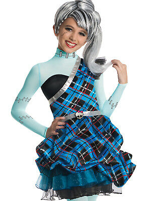 Halloween City Costumes For Girls (Monster High Frankie Stein City Of Frights Girls Halloween Dress)
