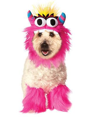 Klein Rosa Flauschig Monster Sully Haustier Hund Katze Halloween Kostüm