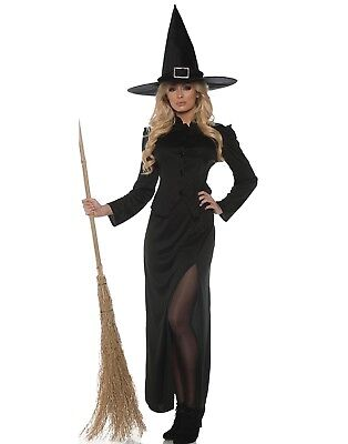 Witchcraft Womens Adult Black Witch Wizard Halloween Costume