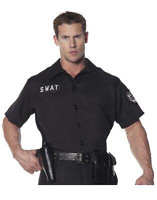 Swat Team Herren Erwachsene Polizist Halloween Kostüm Hemd