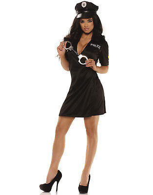 Police Women Halloween Costume (Pull Over Womens Adult Sexy Police Officer Halloween)