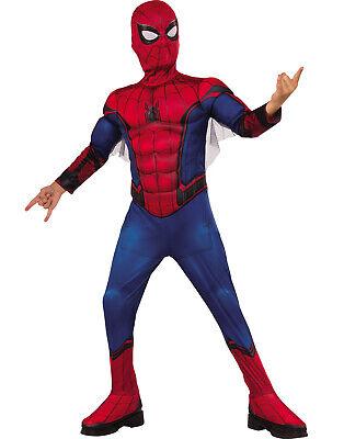 Spiderman Far From Home Jungen Kind Deluxe Gepolsterter Superheld - Home Superhelden Kostüm