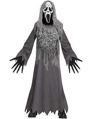 Soul Reaper Mtv Ghost Face Child Gray Scream Halloween Costume