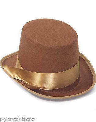 STEAMPUNK BROWN BELL TOPPER FELT TOP HAT Magician Adult Victorian Burlesque Prop](Top Hat Prop)