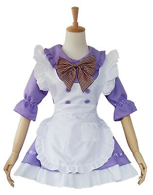 Purple Lolita Cosplay Sexy French Maid Uniform Waitress Halloween Costume](Halloween Costumes French Maid)