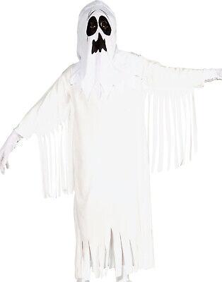 Klassisch Blatt Geist Weiß Abendkleid Gruselig Kinder Halloween Kostüm