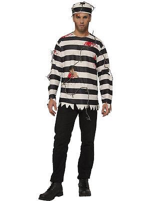 Prisoner Runaway Adult Men Convict Jail Bird Halloween Costume](Jail Man Halloween)