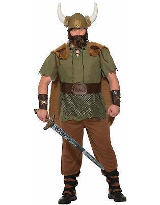 Wikinger Mittelalterlich Barbar Leader Warrior Erwachsene Herren Costume-Xl (Barbaren Erwachsene Kostüme)