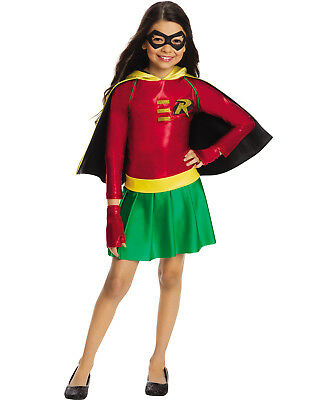 Dc Super Heroes Girls Robin Teen Titans Child Superhero Halloween Costume](Girl Robin Costumes)