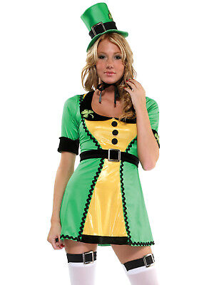 Lucky Charms St. Patricks Day Sexy Dress Womens Irish Halloween Costume ()