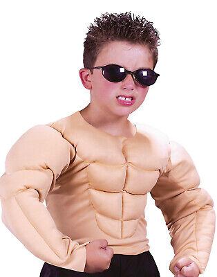 Fake Muscle Shirt Halloween (Muscle Shirt Jersey Guido Body Builder Fake Muscles Boys Halloween)