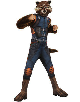Guardians Of The Galaxy Vol. 2 Jungen Luxus Muskel Brust Rocket Waschbär Kostüm