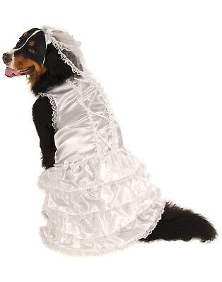 Braut Großer Hund Weiße Hochzeit Kleid Haustier Halloween Kostüm