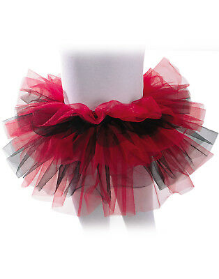 Red Black Girls Ballet Dance Rave Halloween Tutu Petticoat-One Si