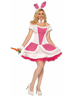 Country Bunny Womens Adult Sexy Animal Halloween Costume-Std