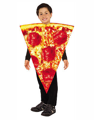 Kids Pizza Costume (Pizza Slice Unisex Child Funny Food One Piece Halloween)