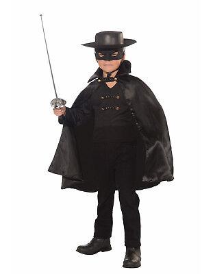 Bandito Boys Child Zorro Black Bandit Hero Halloween - Black Bandit Kostüm