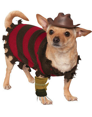 A Nightmare On Elm Street Pet Dog Freddy Krueger Halloween Costume (A Nightmare On Elm Street Costume)