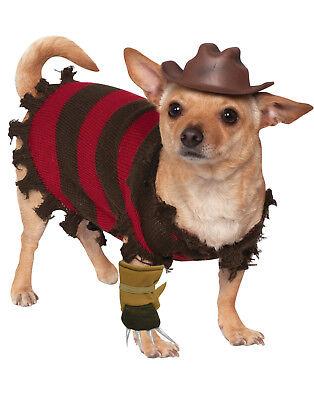 treet Haustier Hund Freddy Krueger Halloween Kostüm (Hund Freddy Krueger Kostüm)