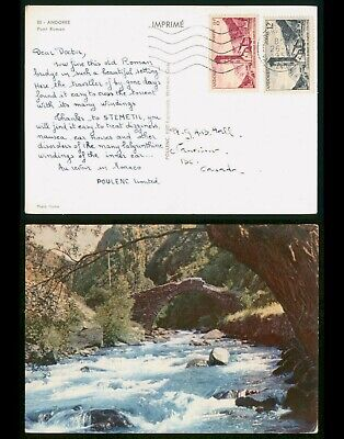 Mayfairstamps Andorra 1959 Dear Doctor Stemetil to Canada Postcard wwp11603