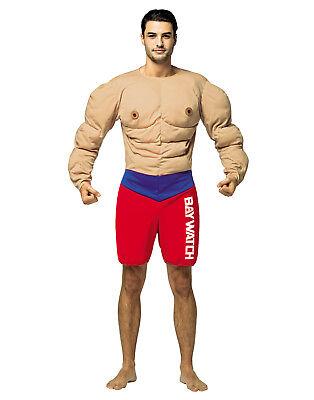 sene Herren Muskeln Rettungsschwimmer Halloween Costume-Os (Rettungsschwimmer Halloween-kostüm)