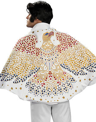 Elvis Eagle White Cape Licensed King Of Rock Vegas Halloween Accessory