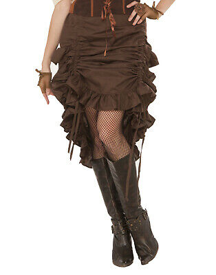 Steampunk Saloon Burlesque Girl Brown Skirt Costume Accessory](Steampunk Burlesque Costumes)