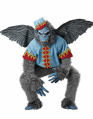 ADULT MENS EVIL WINGED MONKEY FLYING CHIMP WIZARD OF OZ HALLOWEEN COSTUME