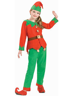 Child Elf Costume Santa Claus Helper Red & Green Christmas Costume