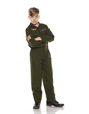 Khaki Boys Child Flight Suit Halloween Aviator Costume