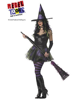Sexy Rebellierend Toons Böse Hexe der West Erwachsene Damen Halloween Kostüm