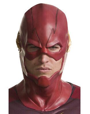 The Flash The Cw Mens Overhead Superhero Vinyl Adult Costume Mask](The Flash Mask Costume)