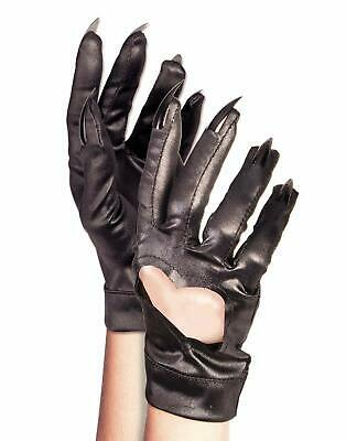 Cat Claw Gloves Costume (Heart Gloves Claws Black Cat Fancy Dress Up Halloween Adult Costume)