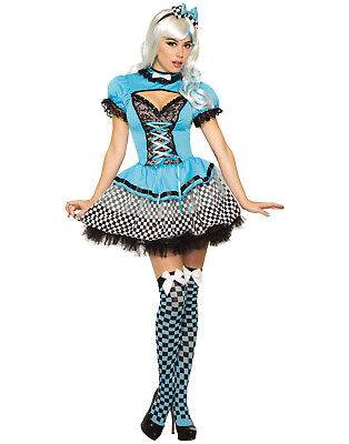 Alice Kingsleigh Womens Adult Alice In Wonderland Halloween Costume-Std